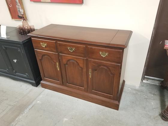Hitchcock Flip Top Wood Server Buffet w/ Two Drawers & Three Doors