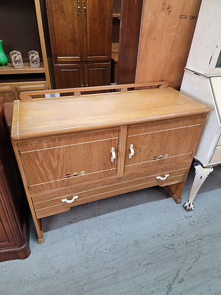 Two Door Light Wood Server Sideboard with Single Drawer