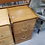 Thumbnail: Two Drawer Golden Oak Wood File Cabinet (2 of 2)