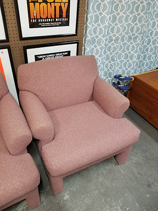 Purple Upholstered Accent Chair (1 of 2)