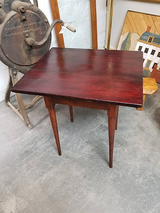 Early Primitive Mahogany Wood End Table / Accent Table