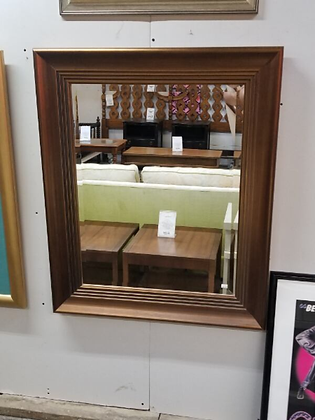 Dark Wood Framed Wall Mirror #M54