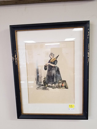 Woman in Dress Pouring into Pitcher #A116