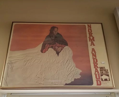 Norma Andraud White Buffalo Gallery Wall Art #A129