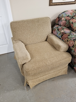 Light Brown Upholstered Accent Chair