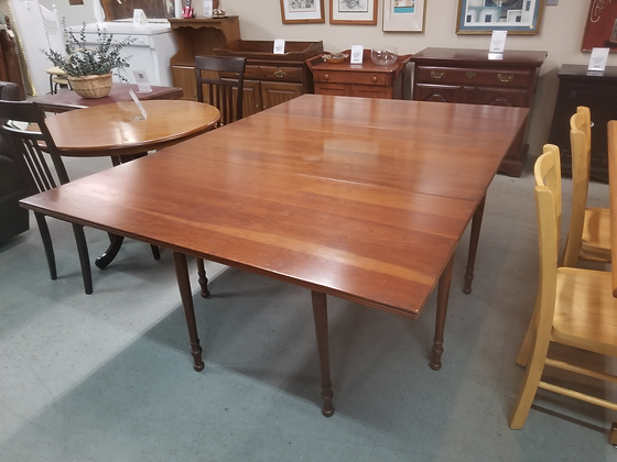 Stickley Large Drop Leaf Wood Dining Table