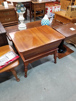 Double Lift Top Wood Accent Table / End Table w/ Storage Compartment
