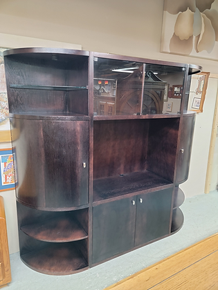 Large Three Piece Wood Entertainment Cabinet / TV Stand
