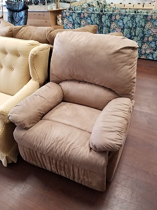 Tan Upholstered Recliner Chair