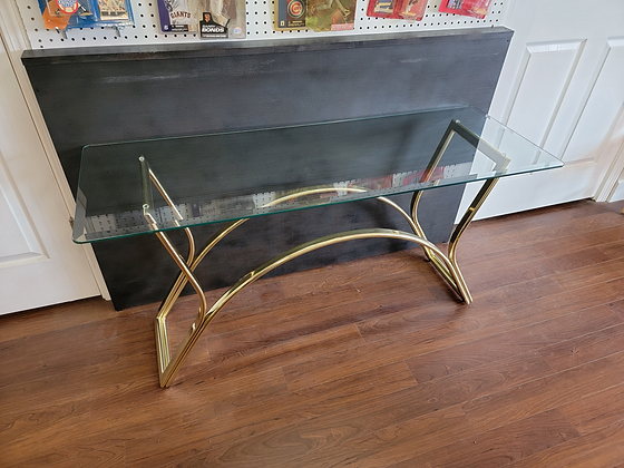 Glass Top Metal Sofa Table / Console Table