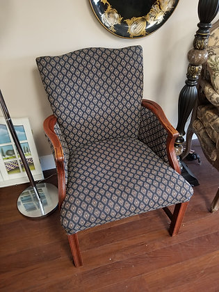 Diamond Pattern Upholstered Accent Chair