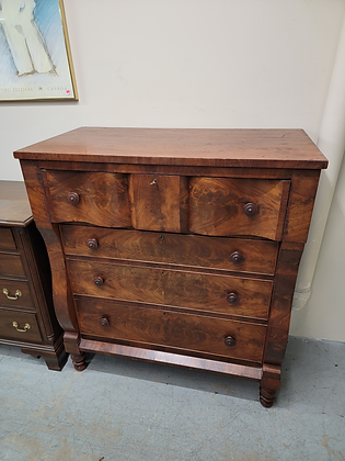 Antique Early Four Drawer Tall Wood Dresser w/ Locking Drawers