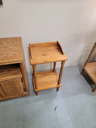 Small Two Tier Wood Accent Stand