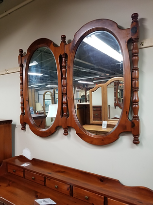 Large Medium Pine Wood Framed  Double Wall Mount Mirror #M84