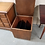 Thumbnail: Lift Top Cube Shaped Wood Record Cabinet On Wheels