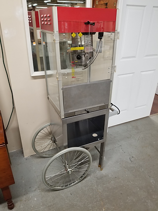 18 Inch Metal Popcorn Machine / Cart On Wheels By Gold Metal Products Co