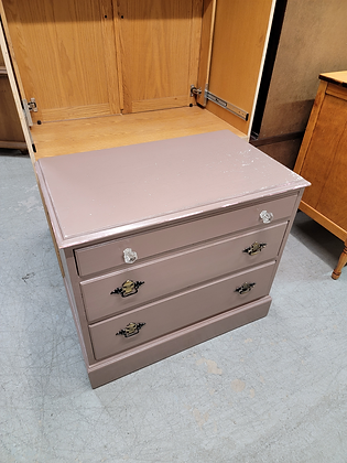 Three Drawer Solid Wood Painted Dresser / Chest