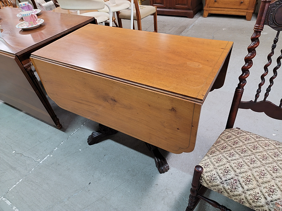 Drop Leaf Ornate Claw Foot Dining Table