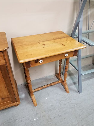 Early Single Drawer Wood Accent Table Stand
