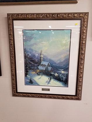 Moonlit Village by Thomas Kinkade Wall Art #A130
