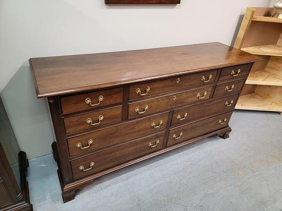 Stickley Ten Drawer Wide Wood Dresser Chest