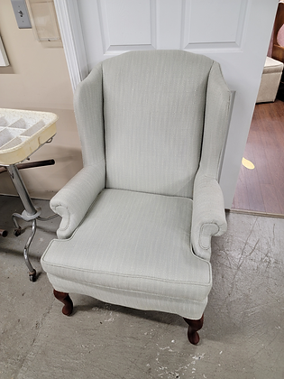 Light Green Upholstered Wingback Accent Chair (1 of 2)
