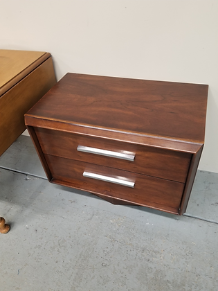 Lane Mid Century Mcm Two Drawer Wood End Table Nightstand