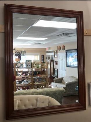 Dark Wood Framed Wall Mirror #M24