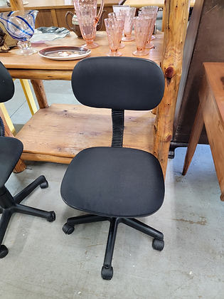 Black Office Chair On Wheels (1 of 2)