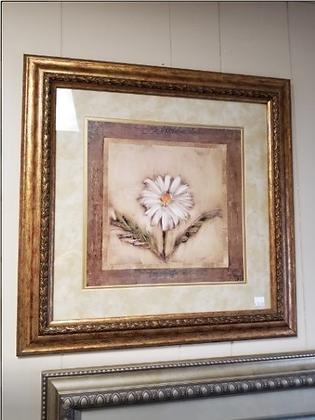 Single White Daisy Wall Art #A100
