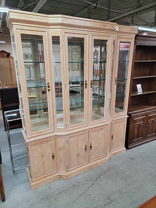 Beautiful Large Glass Front Wood China Cabinet by Drexel