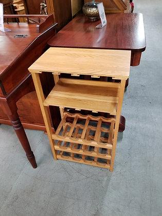 Golden Oak Wood Wine Glass / Wine Bottle Rack