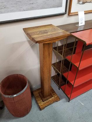 Oak Wood Pedestal / Pillar Style Plant Stand