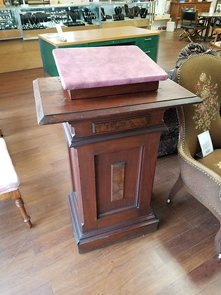 Antique Wood Podium Stand w/ Adjustable Top