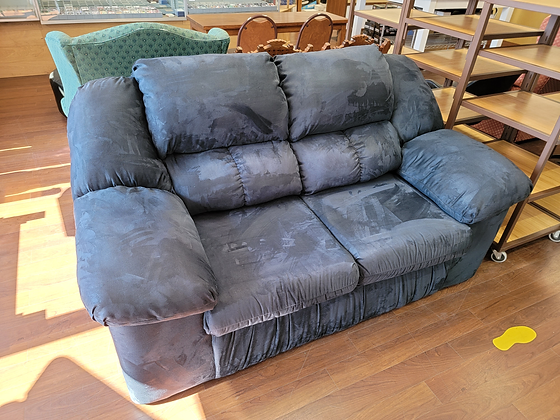 Blue Upholstered Sofa / Couch / Loveseat