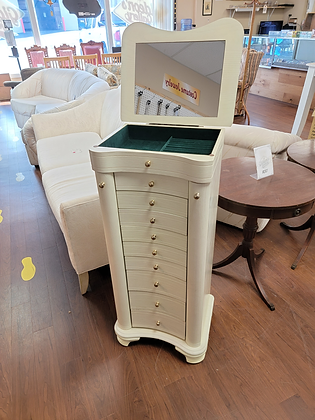 Nine Drawer Tall Wood Jewelry Chest