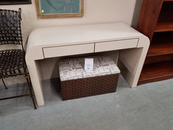 Two Drawer Wood Sofa Table / Console Table w/ Rounded Corners