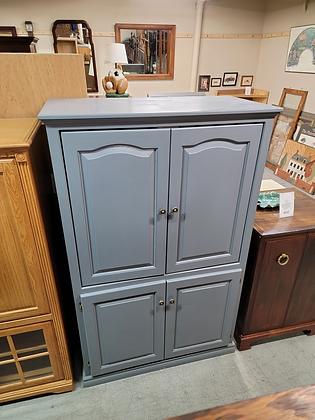Four Door Blue Wood Wardrobe / Tv Cabinet / Storage Cabinet