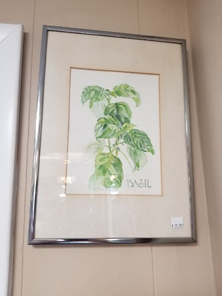 Basil Plant Framed Wall Art #A101
