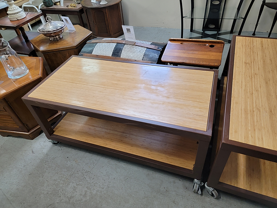 Two Tier Rolling Cart / Tv Stand (1 of 2)