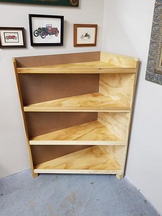 Four Tier Slanted Wood Corner Shelf