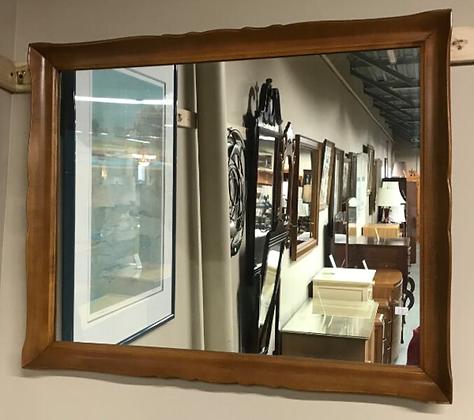 Medium Tone Wood Framed Wall Mirror #M30