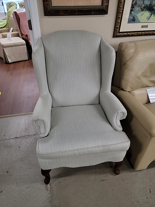 Light Green Upholstered Wingback Accent Chair (2 of 2)