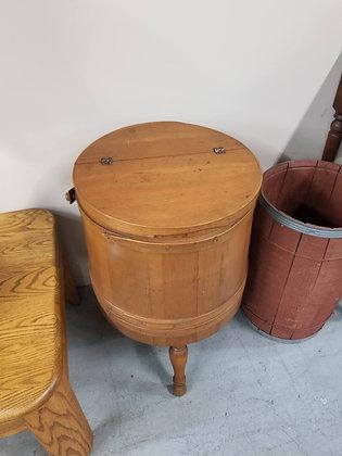 Vintage Flip Top Wood Sewing Storage Stand