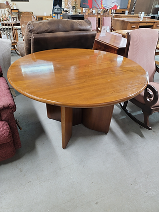 Round Solid Wood Dining Table / Conference Table
