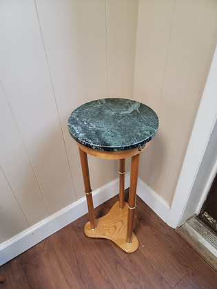 Faux Marble Top Round Plant Stand