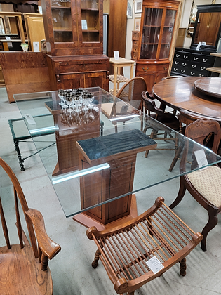 Stickley Glass Top Dining Table