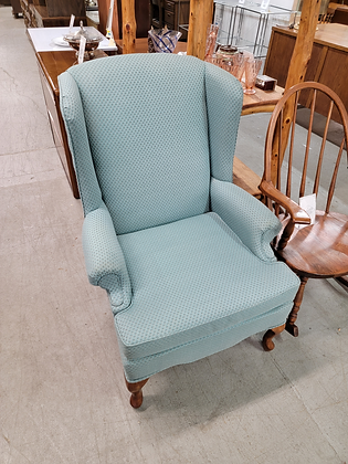 Green Upholstered Wingback Accent Chair