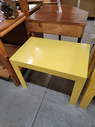 Bright Yellow Rectangular End Table