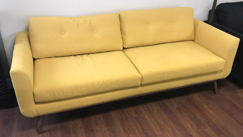 Brand New Retro MCM Mid Century Style Yellow Sofa Couch